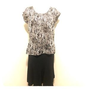 Ann Taylor Loft Black Sheer Blouse Sz 14
